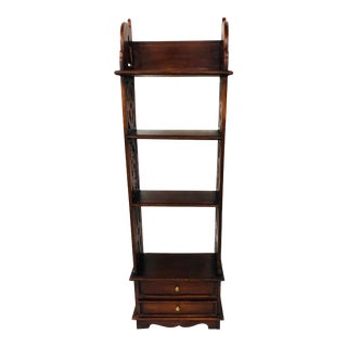 Late 20th Century Mahogany Hanging Wall Shelf For Sale