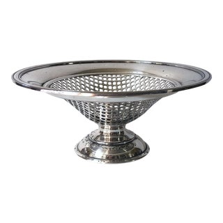 Sheffield Silver Plate Pedestal Basket For Sale