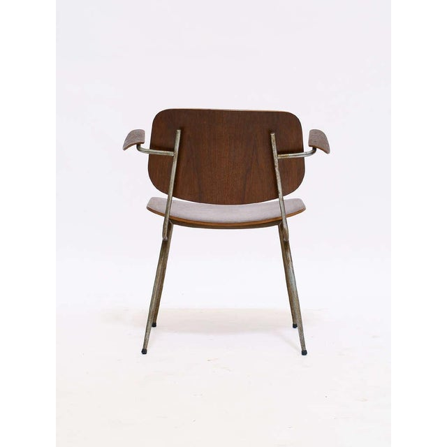 Brown Armchair by Borge Mogensen For Sale - Image 8 of 10