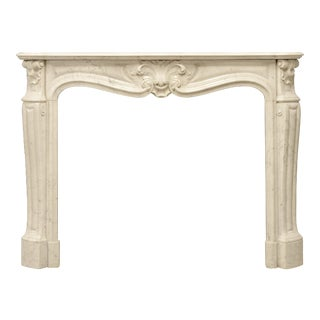 Antique Louis XV Style Fireplace Mantel, 19th Century For Sale