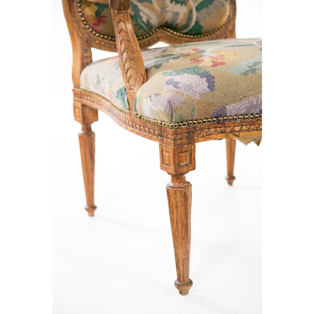 19th Century Louis XV Carved Armchair For Sale - Image 4 of 7
