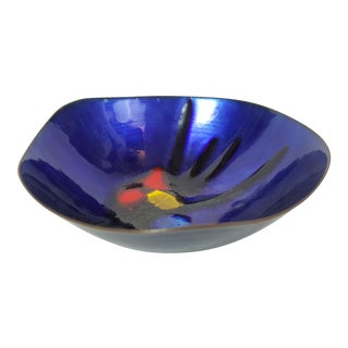 Cobalt Enamel and Copper 'Lovecup' For Sale
