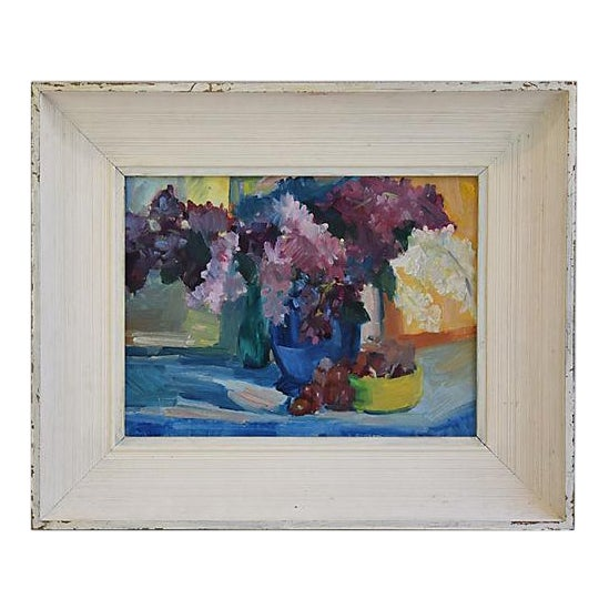 1940s Beautiful Floral Still life Oil Painting - Image 1 of 9