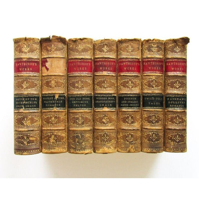 The Works of Nathaniel Hawthorne (American, 1804–1864); Published: Boston 1880, Houghton, Osgood & Co. 7 volumes (of 12),...