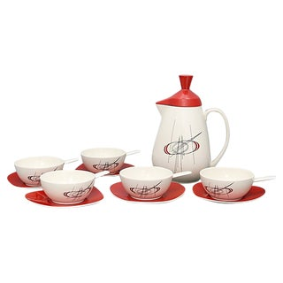 Mid-Century Carlton Ware Soup Set - Svc for 5 For Sale