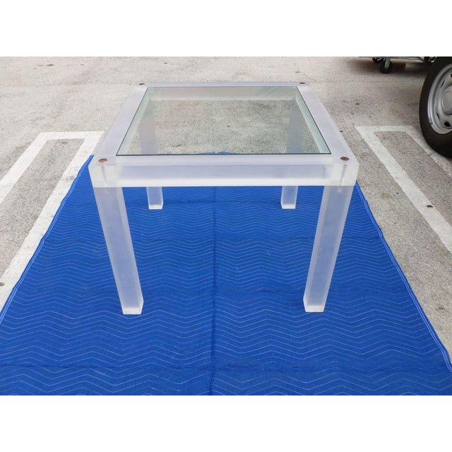 1970s Vintage Space Age Lucite Card Table For Sale - Image 12 of 12