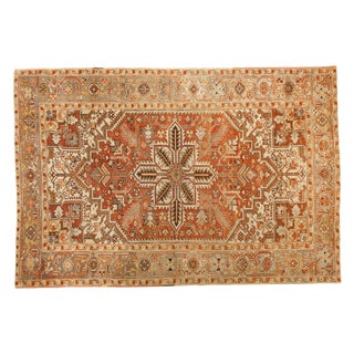 "Vintage Distressed Mehrivan Carpet - 6'1"" X 9'2"" For Sale"