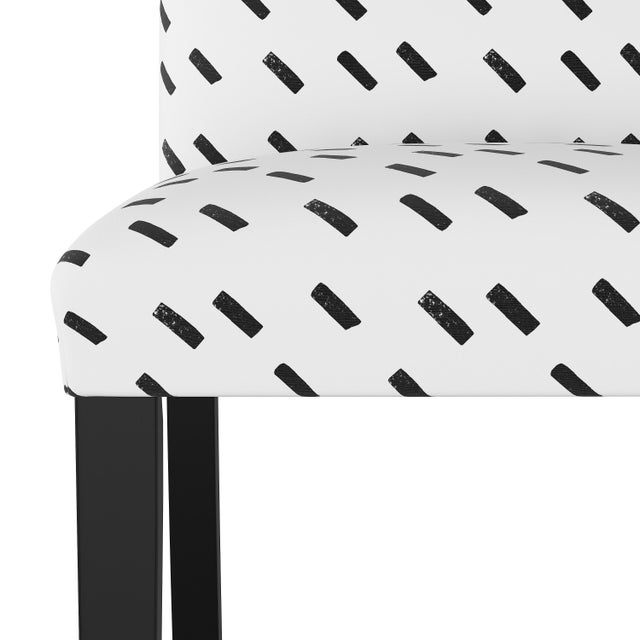Spritely Home Dining Chair in Charcoal Dash White Oga For Sale - Image 4 of 7
