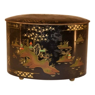 Late 19th C Chinoiserie Tea Tin For Sale
