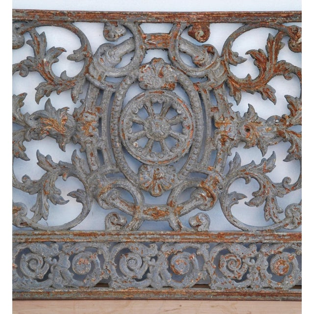 Antique 19th C. French Iron Architectural Panel - Image 5 of 11