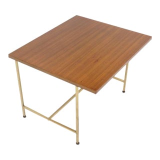 Paul McCobb Occasional Table with Brass Frame and Cantilevered Top For Sale