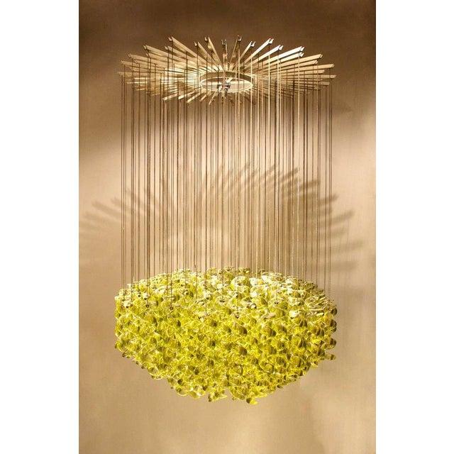Italian Exceptional Venetian Blow, Glass Pendant Light Fixture For Sale - Image 3 of 6