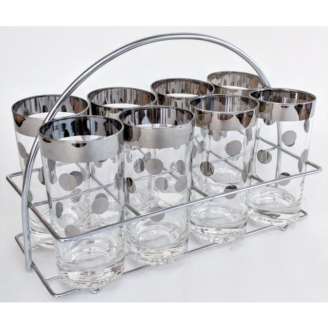 Dorothy Thorpe Polka Dot Glasses With Holder - Set of 8 - Image 11 of 11