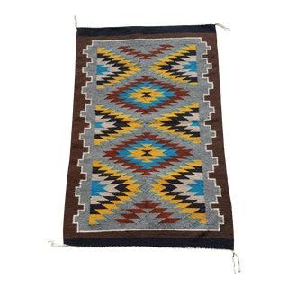 1990 Handmade Navajo Storm Pattern Rug - 2′2″ × 3′