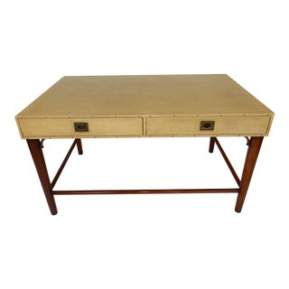 Leather Wrapped Desk by Modern History For Sale