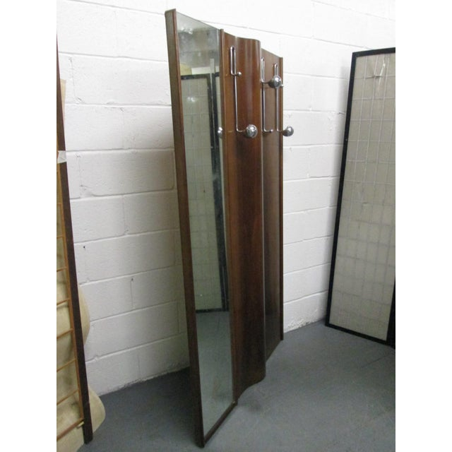 1950s Italian Wall-Mounted Coat Rack With Mirror For Sale - Image 5 of 7