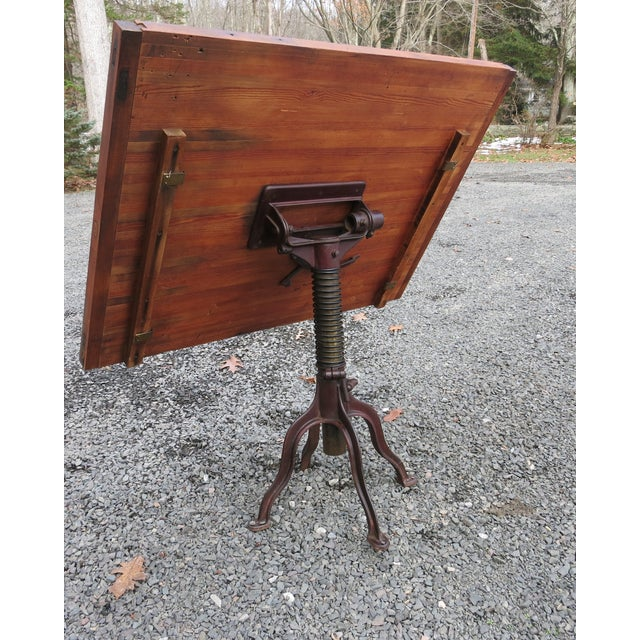 20th Century Industrial Morse Drafting Table For Sale In New York - Image 6 of 10