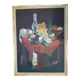 Satter Tablescape Impressionist Painting For Sale