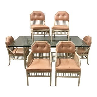 Ficks Reed Attributed Rattan Patio Set - Set of 7