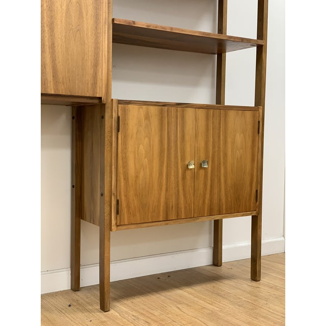 Brown Mid Century Vintage Wall Unit For Sale - Image 8 of 13