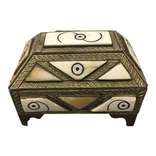 Moroccan Bone Box by Banchoff For Sale