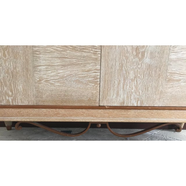 Wood 1940s Mid Century French Cerused Cabinet For Sale - Image 7 of 11