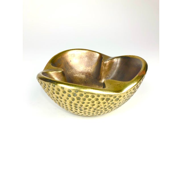 Ben Seibel Dimpled Modernist Brass Catchall For Sale In Los Angeles - Image 6 of 6