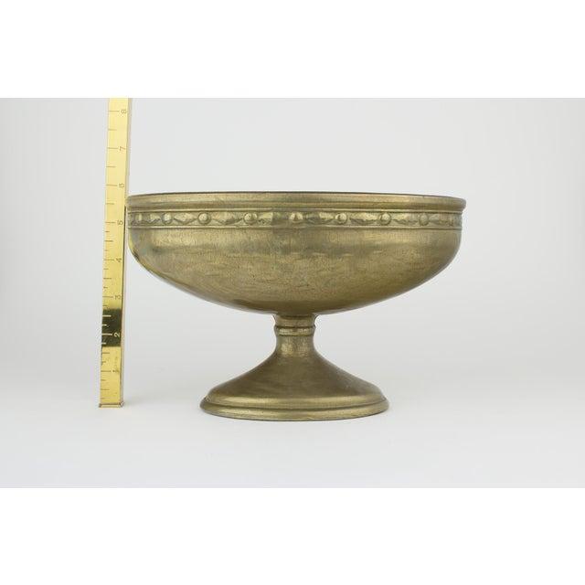 Vintage Brass Pedestal Bowl - Image 10 of 11