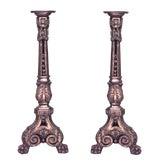 Image of French Louis XVI Style 19th Century Carved Gilt Pedestals - a Pair For Sale
