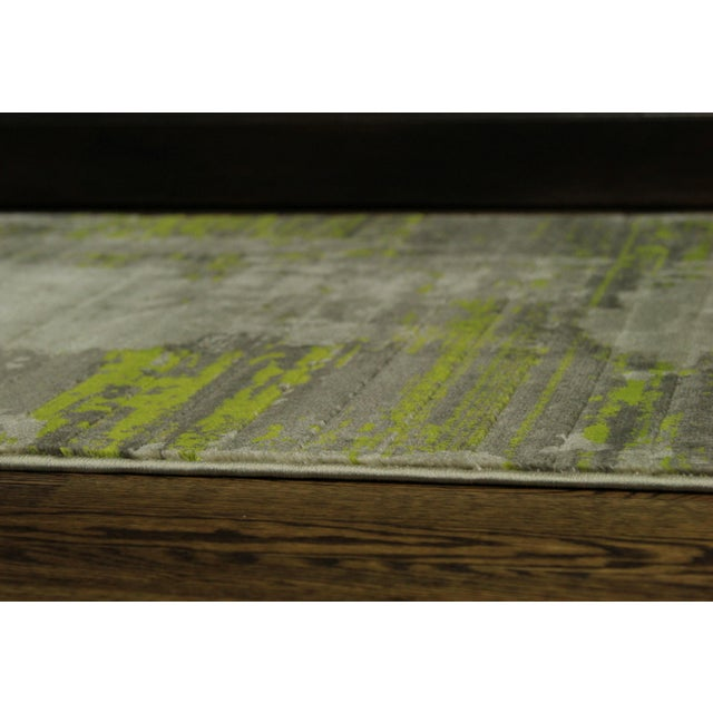 Contemporary Abstract Green Rug - 2'8'' x 10' - Image 5 of 5