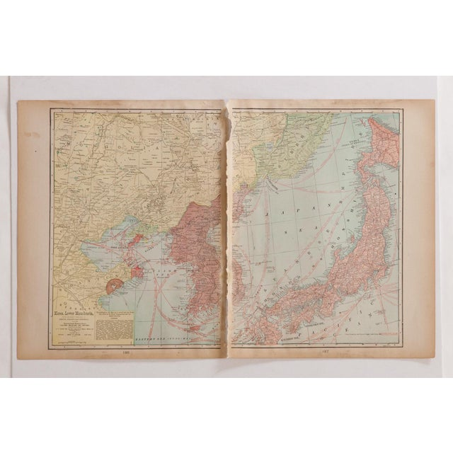 Old New House Cram's 1907 Map of Korea For Sale - Image 4 of 8