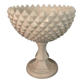 Westmoreland Milk Glass Pedestal Compote For Sale