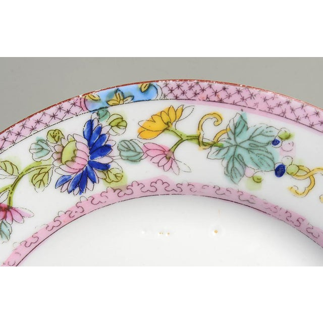 Noritake Noritake Pink with Bird of Paradise Bread & Butter Plates - Set of 9 For Sale - Image 4 of 7