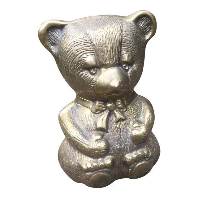 Vintage Large Brass Teddy Bear For Sale