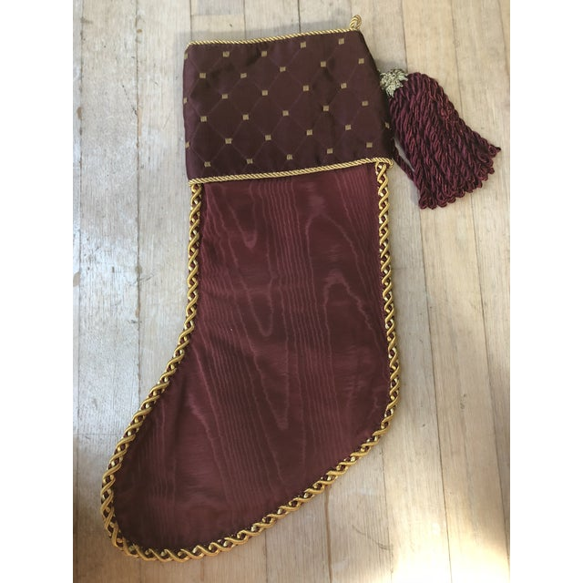 Christmas Tapestry Tree Stocking With Lion Heads and Double Headed Eagle For Sale - Image 4 of 5