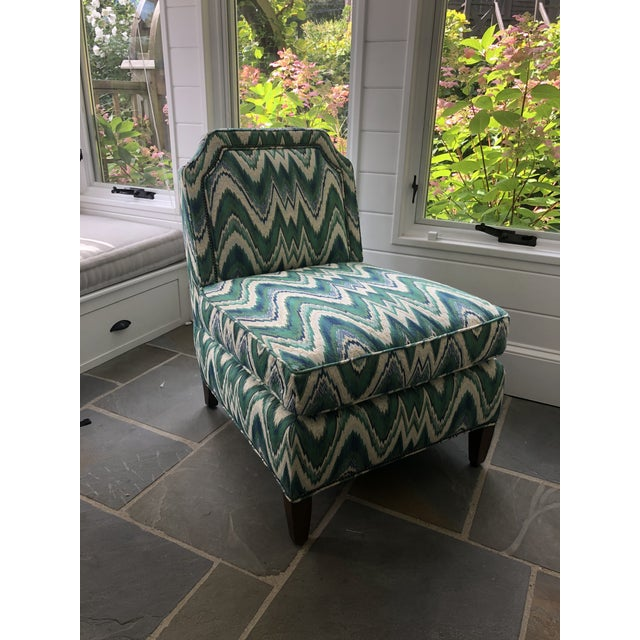 Custom Highland House Luc Slipper Chair For Sale - Image 9 of 9