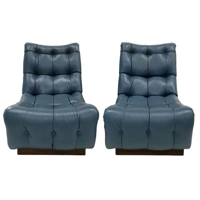 1970s Lounge Chairs Attributed to Milo Baughman — A Pair - Image 2 of 8