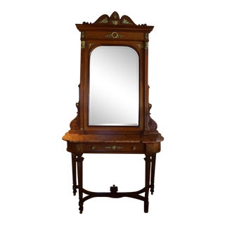 Edwardian Console Table With Mirror