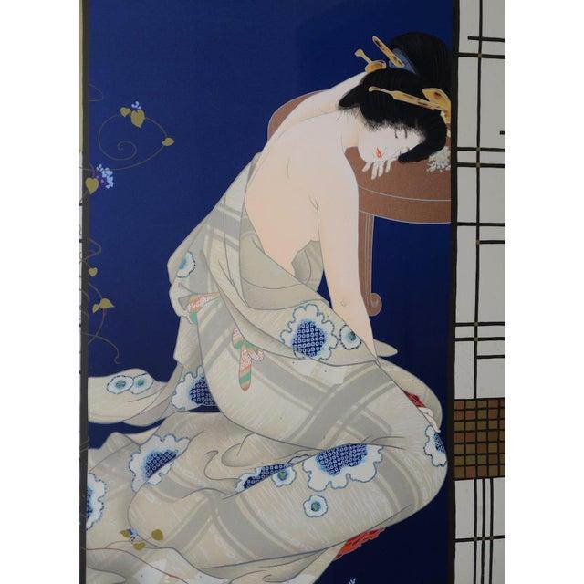 "Morita Haruyo (B. 1945, 森田 春代) ""Natsu N Yo"" Japanese Serigraph C.1980s For Sale - Image 4 of 11"