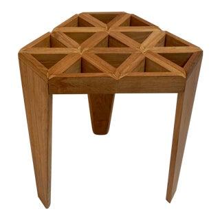 Open Hexagonal Wood Table For Sale