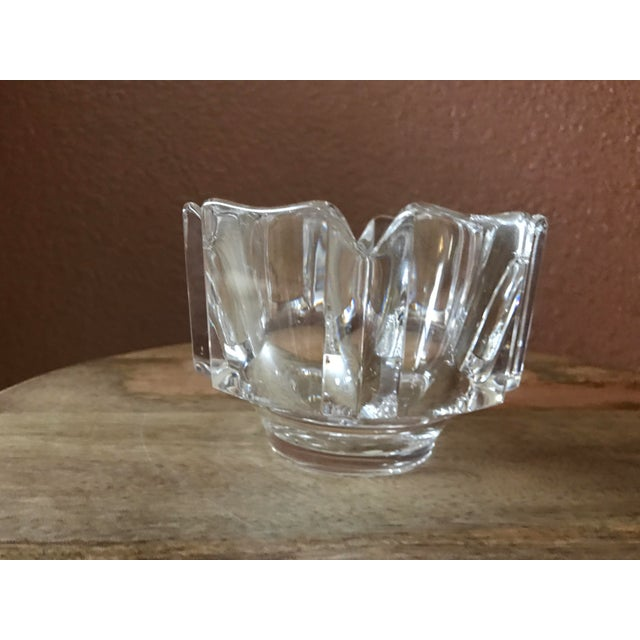 Traditional Orrefors Crystal Corona Decorative Bowl For Sale - Image 3 of 7