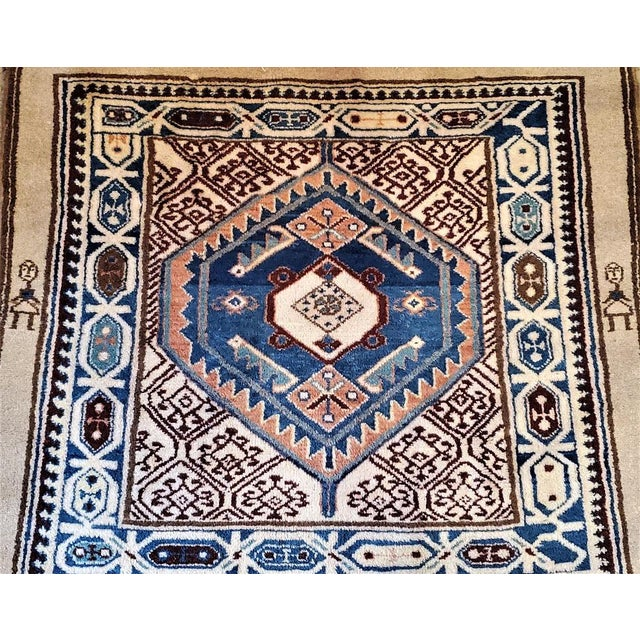 Tribal Early 20th Century Vintage Afghan Tribal Square Prayer Rug- 3′7″ × 3′8″ For Sale - Image 3 of 11