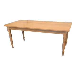 1980s Traditional Mario Rodriguez Solid Oak Dining Table For Sale