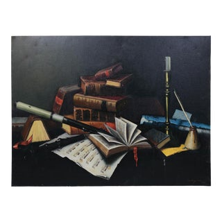 Oil on Canvas ,Trompe-L'œil Artrealistic Still Life Imagery . For Sale