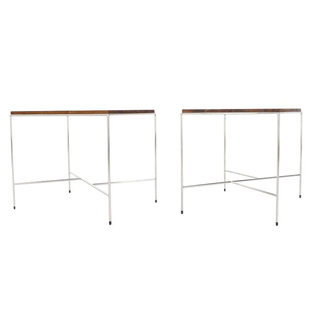 Mid-Century Modern Z-Base Occasional Tables - a Pair For Sale