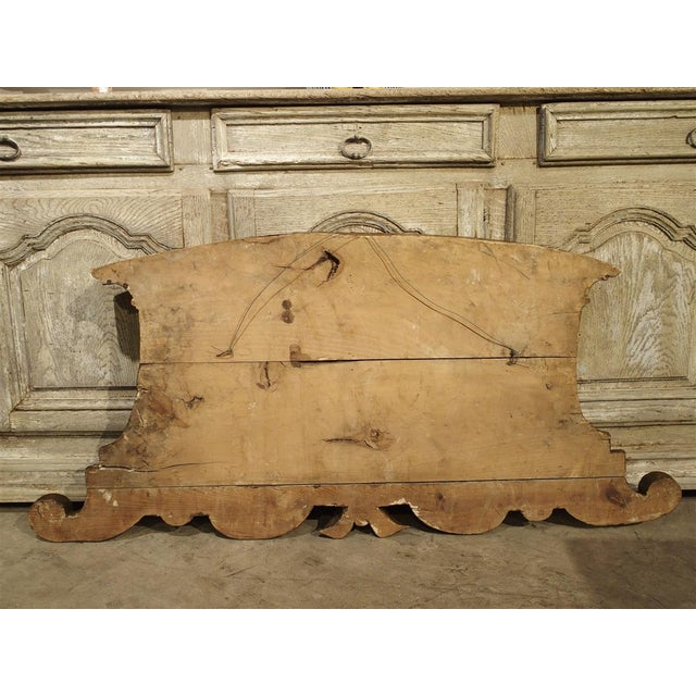 Wood 18th Century Carved Wooden Overdoor From France For Sale - Image 7 of 13