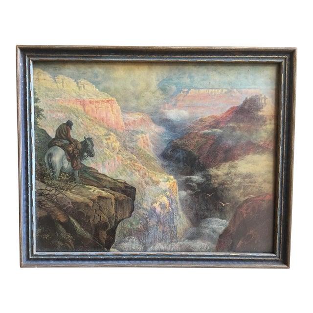 Vintage Framed Grand Canyon Western Print - Image 1 of 6