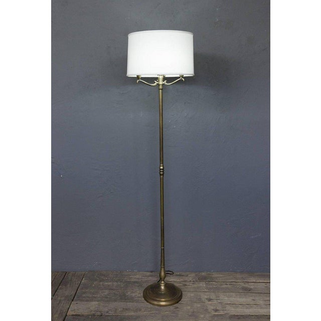 Brass 1940s French Brass Floor Lamp For Sale - Image 7 of 10