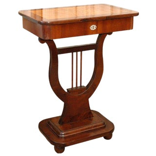 Lyre Based Table For Sale