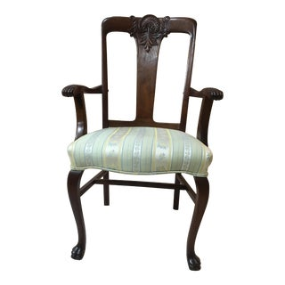 1920's Queen Anne Furry Foot Dining Room Chair For Sale